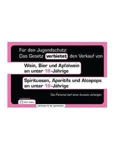 Alkoholabgabeverbot an Jugendliche (Plakat) - CafetierSuisse